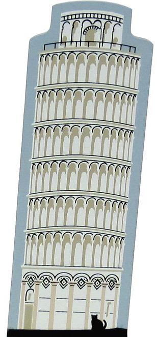 Cat's Meow Shelf Sitter - Leaning Tower of Pisa ITALY #00-913