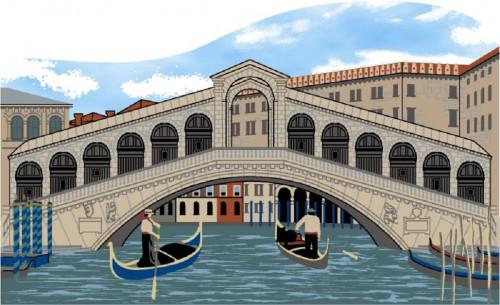 Cat's Meow Shelf Sitter - Rialto Bridge Venice Italy #05-912
