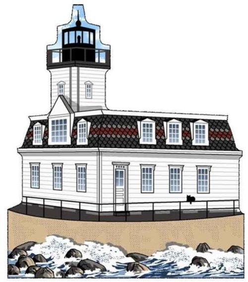 Cat's Meow Village Rose Island Lighthouse Narragansett Bay Rhode Island