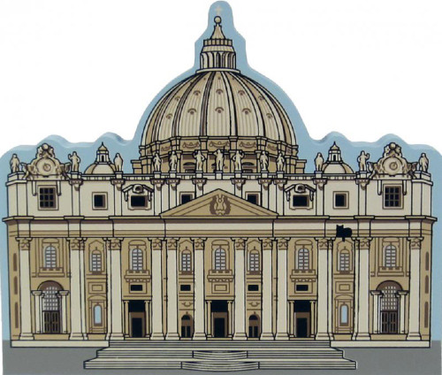 Cat's Meow Village Shelf Sitter - St. Peter's Basilica Vatican City *Italy #03-913