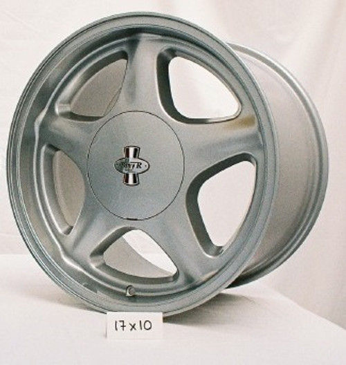 "Pony R Wheel, 17x10"", Argent, 4 lug,  46 mm offset"