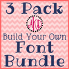 """3 Pack """"Build Your Own"""" Font or Monogram Bundle Deal - Machine Embroidery Designs"""