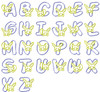 No 366 Applique Bunny Bunnies Machine Embroidery Font Designs 4 inch high