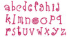 No 382 Funky Applique STACKED Font and Numbers Machine Embroidery Designs 4 inch high