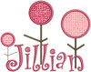 "Our #148 CurlyQue Font letters were used for ""Jillian""."