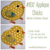 No 832 Applique Chicks Machine Embroidery Designs