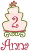 #2 Anna - LG cake w/LG flower add-ons & #148 CurlyQue Font