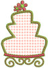 No 856 Girly Applique Cakes Machine Embroidery Designs
