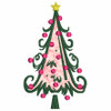 No 88 Swirly and Dots Applique Christmas Trees Designs