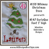 No 155 Whimsy Christmas Tree Machine Embroidery Designs