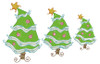 Picture of all 3 Whimsy Christmas Trees included in set