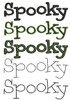 No 216 Spooky Machine Embroidery Designs