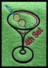 Example of this design stitched on a  tennis towel ~ Makes a super cute gift!