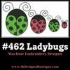 No 462 Ladybug Machine Embroidery Designs