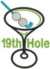 No 479 Golf Martini with Straight Stem Embroidery Designs