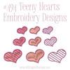 No 494 Teeny Hearts Embroidery Designs