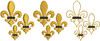 No 580 Teeny Fleur de Lis Machine Embroidery Designs