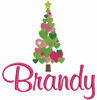 """The picture below is of 1 large tree and we used our #77 Girly Font to spell """"Brandy"""""""