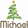 "The picture below is of 1 large tree and we used our #76 Retro Boy Font to spell ""Michael"""