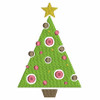 No 65 Dots and Swish Christmas Tree Machine Embroidery Designs