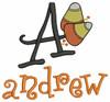 No 104 Halloween Monogram Font Machine Embroidery Designs 3.5 inch high