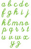 No 122 Lara Script Font Machine Embroidery Designs 1.5 inch high