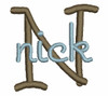No 134 Bold STACKED Font Machine Embroidery Designs 1 inch high