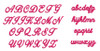 No 142 Lara Script Font Machine Embroidery Designs .35 inch high