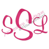 No 144 Large Girly 3 Letter Monogram Font Machine Embroidery Designs 7.8 inch high