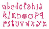 No 22 Fun Font STACKED Machine Embroidery Designs 3.5 inch high