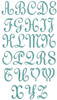 No 335 Classic Script 3 Letter Monogram Machine Embroidery Designs 4 inch high