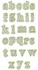 No 336 Polka Dot Font Lowercase ONLY Embroidery Designs 1.5 inch high