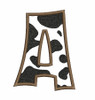 No 337 Cow Print Font Uppercase ONLY Embroidery Designs 4 inch high