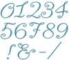 No 339 Paris Script Font Machine Embroidery Designs 3 inch high