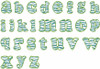 No 361 Lowercase Zebra Filled Font Machine Embroidery Designs 4 inch high