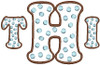 """H is from this set [#374] and the T and I are from our #372 Polka Dot Font 2""""set.  Finished height and width are 3.8"""" x 5.8"""""""