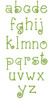 No 381 Doodle Font Machine Embroidery Designs 1 inch high