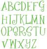 No 48 Fun Font Machine Embroidery Designs 1.5 inch high