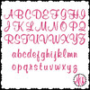 No 67 Girly Font Machine Embroidery Designs 3 inch high
