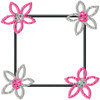 No 33 Retro Flower Frame Machine Embroidery Designs
