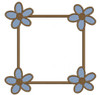 No 40 Spring Flower Font Frames Machine Embroidery Designs