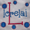 "The Lorelai example was designed using our #353 Doodle Font Font for the ""K"" and the #381 Doodle Font for ""kaiden""."