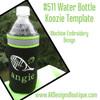 Machine Embroidery Design: No 511 Water Bottle Koozie Template
