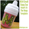 Machine Embroidery Design: No 514 Small Sippy Cup Insert In The Hoop Template