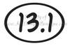 No. V102 13.1 Half Marathon Oval - Ready to Cut Artwork for Vinyl Cutter