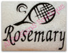 """This example is shown with letters from our #129 Zebra Font to spell """"Rosemary"""""""
