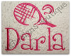 """This example is shown with letters from our #99 Fun Font to spell """"Darla"""""""