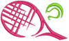 No 461 Tennis Ball and Racquet Machine Embroidery Designs