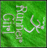 """The 4"""" size stitched on a lime green towel with a corner grommet."""