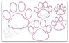 All 5 applique paws included in set.